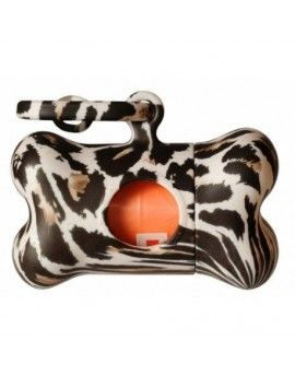 DISPENSADOR DE BOLSAS BON TON  LEOPARDO