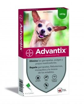 Advantix 4 Pip X 0,4 Ml 0-4 Kg Verde